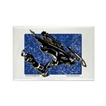 Gravity Sledder Blue Rectangle Magnet