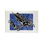 Gravity Sledder Blue Rectangle Magnet (10 pack)