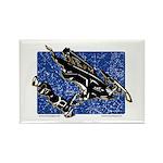 Gravity Sledder Blue Rectangle Magnet (100 pack)