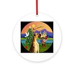 Great Dane Christmas Fantasy Ornament (Round)
