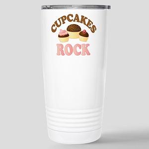 Cupcakes Rock Stainless Steel Travel Mug
