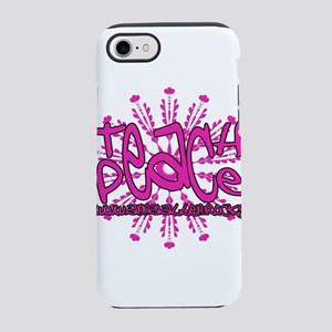 Anna Allen Teach Peace Pink iPhone 7 Tough Case
