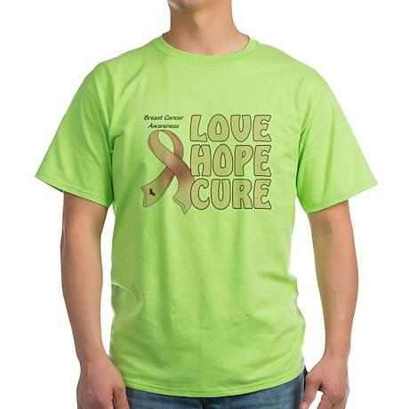 Breast Cancer Awareness Green T-Shirt