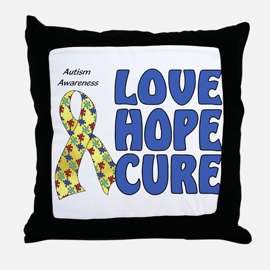 Autism Awareness (hlc) Throw Pillow
