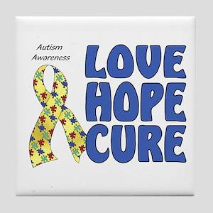 Autism Awareness (hlc) Tile Coaster