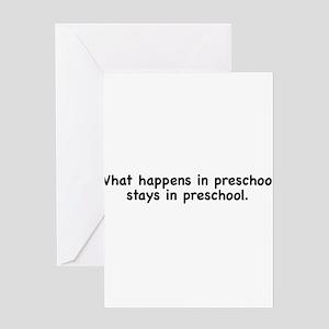 What happens in preschool, stays in preschool Gree