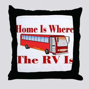 RV Home Throw Pillow