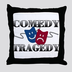 Comedy Tragedy Throw Pillow