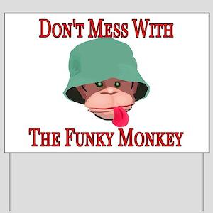 Funky Monkey Yard Sign