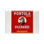 Portola Sardines Head Design Rectangle Magnet