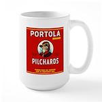 Portola Sardines Head Design Large Mug