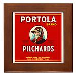 Portola Sardines Head Design Framed Tile