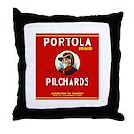 Portola Sardines Head Design Throw Pillow