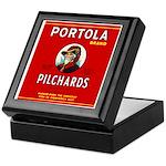 Portola Sardines Head Design Keepsake Box