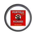 Portola Sardines Head Design Wall Clock