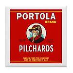 Portola Sardines Head Design Tile Coaster