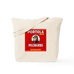 Portola Sardines Head Design Tote Bag