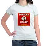 Portola Sardines Head Design Jr. Ringer T-Shirt