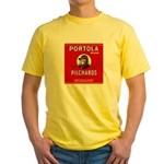 Portola Sardines Head Design Yellow T-Shirt