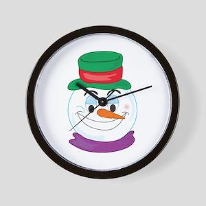 SNOWMAN SMILEY! Wall Clock