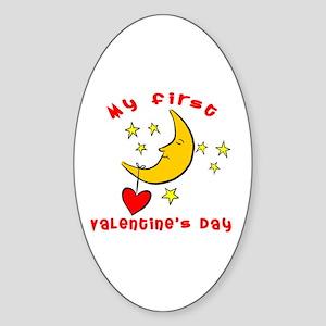 My First Valentine's Day Oval Sticker