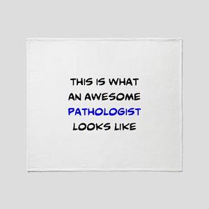 awesome pathologist Throw Blanket