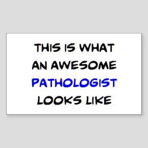 awesome pathologist Sticker (Rectangle)