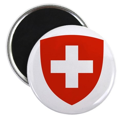 "Swiss Shield 2.25"" Magnet (100 pack)"