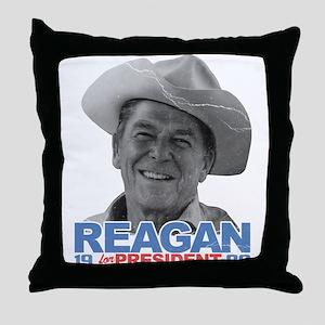 Reagan 1980 Election Throw Pillow