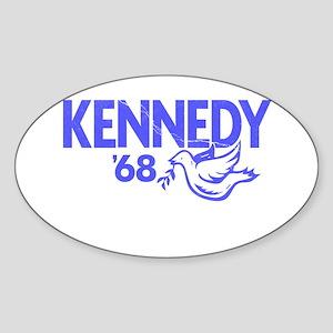John Kennedy 1968 Dove Oval Sticker