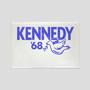 John Kennedy 1968 Dove Rectangle Magnet