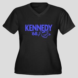 John Kennedy 1968 Dove Women's Plus Size V-Neck Da