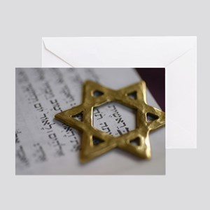 Jewish Star Greeting Card
