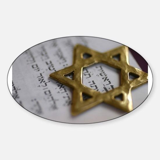 Jewish Star Oval Decal