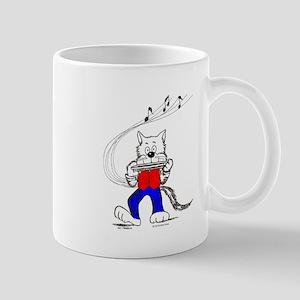 Harmonica Cat Mug