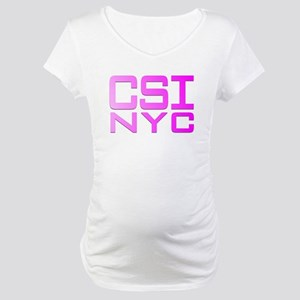 CSI NYC PINK Maternity T-Shirt