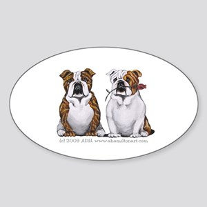 Bulldog Romance Sticker (Oval)