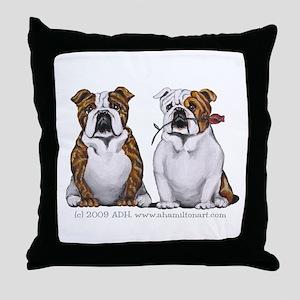 Bulldog Romance Throw Pillow