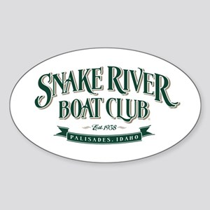 Boat Club Forest/Tan Oval Sticker