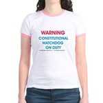 Constitutional Watchdog on du Jr. Ringer T-Shirt