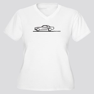Mustang 64 to 66 Hardtop Women's Plus Size V-Neck