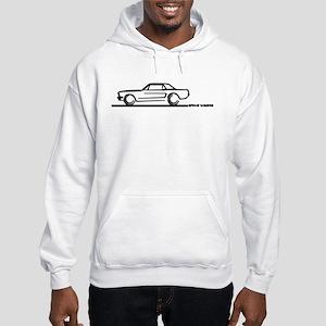 Mustang 64 to 66 Hardtop Hooded Sweatshirt