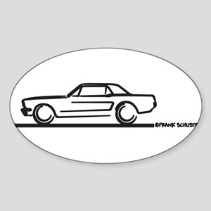 Mustang 64 to 66 Hardtop Oval Sticker (10 pk)