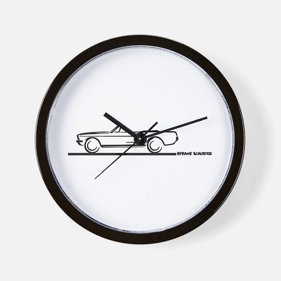 1967 1968 Mustang Convertible Wall Clock