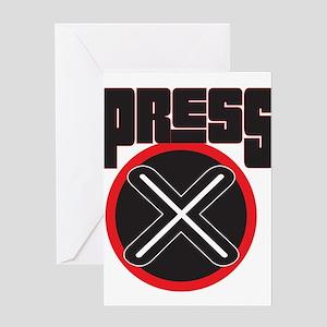 Press X Greeting Card