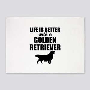 Life Is Better With A Golden Retriever 5'x7'Area R