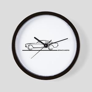 1967 1968 Mustang Fastback Wall Clock