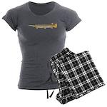 Alligator Gar Women's Charcoal Pajamas