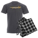 Alligator Gar Men's Charcoal Pajamas