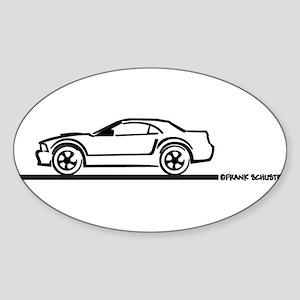 2005-2010 Mustang Hardtop Oval Sticker (10 pk)
